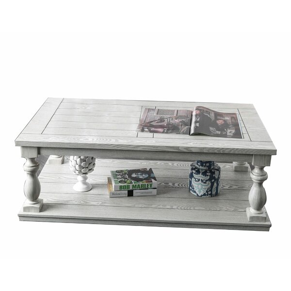 Hager Floor Shelf Coffee Table With Storage By One Allium Way