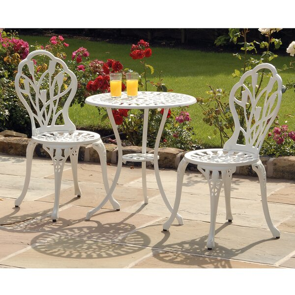Tulip 3 Piece Bistro Set with Cushion by SunTime Outdoor Living
