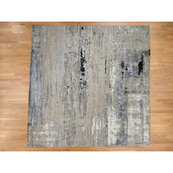 One-of-a-Kind Schuetz Hand-Knotted Gray 13'8 x 14' Area Rug