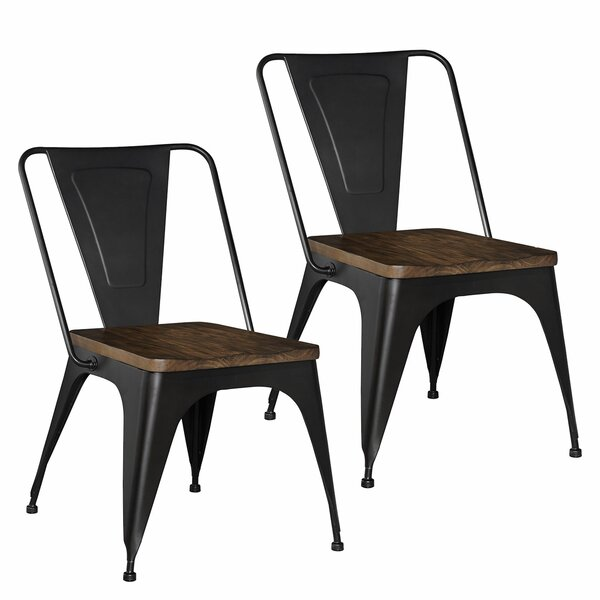 Leandra Metal Dining Chair (Set of 2) by Williston Forge