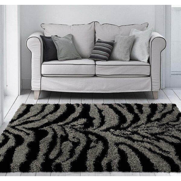 Creissant Gray/Black Indoor/Outdoor Area Rug by Willa Arlo Interiors