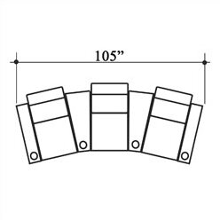 Olympia Home Theater Row Seating (Row Of 3) By Bass