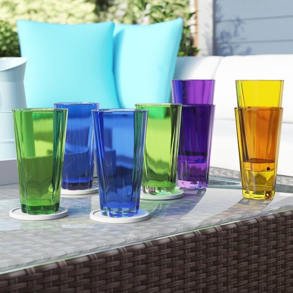 Fulford 8-Piece 21 oz. Plastic Drinking Glass Set by Ivy Bronx