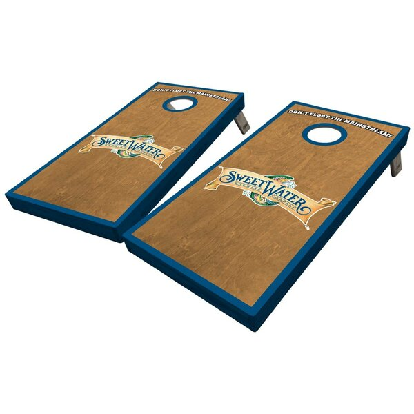 SweetWater Stained Wood 10 Piece Cornhole Set by West Georgia Cornhole