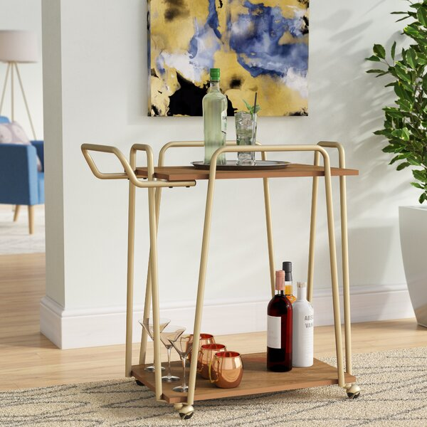Rutz 2 Tier Hairpin Bar Cart by Wrought Studio Wrought Studio