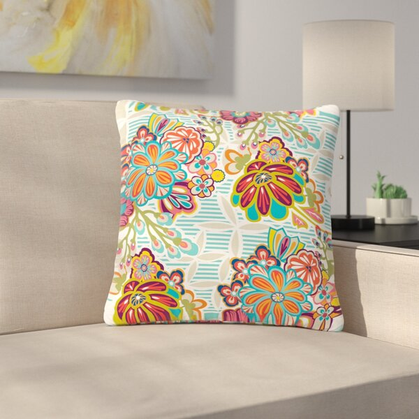 Agnes Schugardt Kimono Floral Floral Pattern Outdoor Throw Pillow by East Urban Home