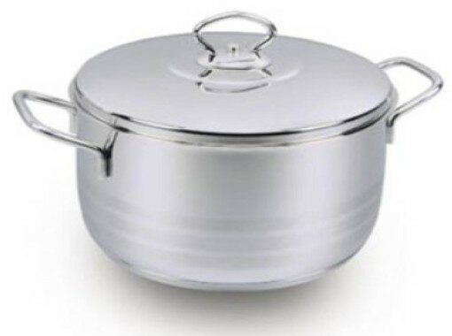 Stockpot with Lid by YBM Home