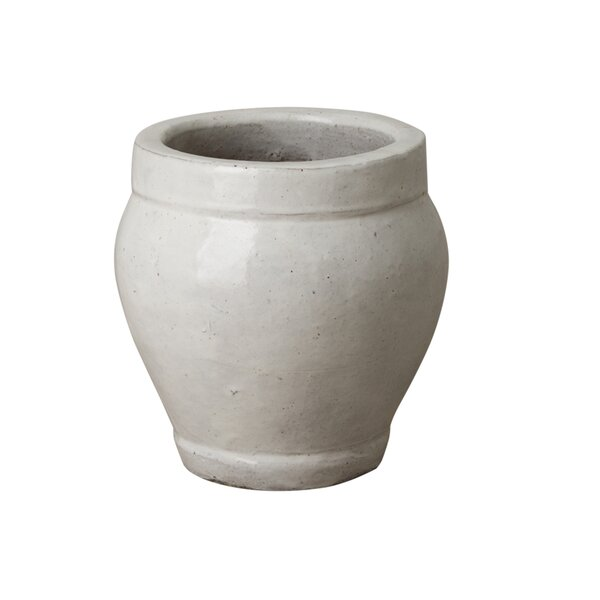 Ridge Glazed Ceramic Pot Planter by Emissary Home and Garden