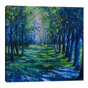 Blue Evergreens by Iris Scott Painting Print on Wrapped Canvas by Jaxson Rea