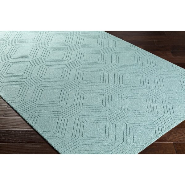 Belle Wool Blue Area Rug by Wrought Studio