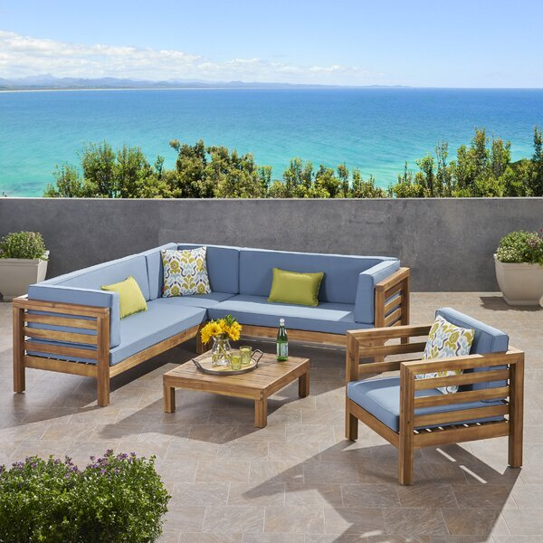 Zaina Outdoor 3 Piece Deep Seating Group with Cushions by Longshore Tides