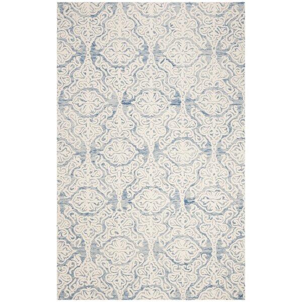 Deidamia Hand-Woven Wool Blue/Ivory Area Rug by Ophelia & Co.