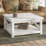Moravia Cross Legs Coffee Table with Storage by Laurel Foundry Modern Farmhouse