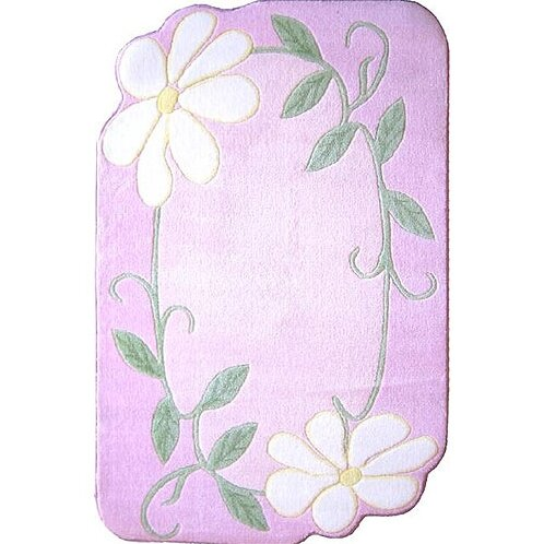 Supreme Daisy Field Pink Area Rug by Fun Rugs