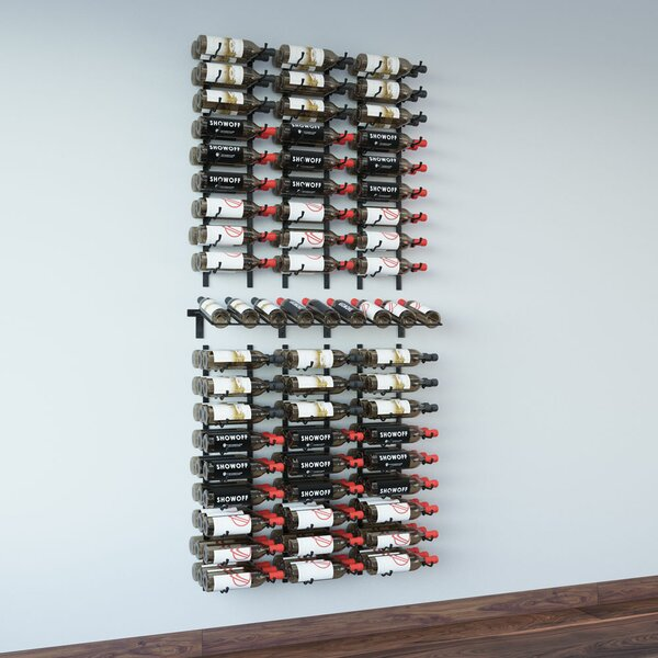 Wall Series Presentation Row 144 Wall Mounted Wine Bottle Rack by VintageView