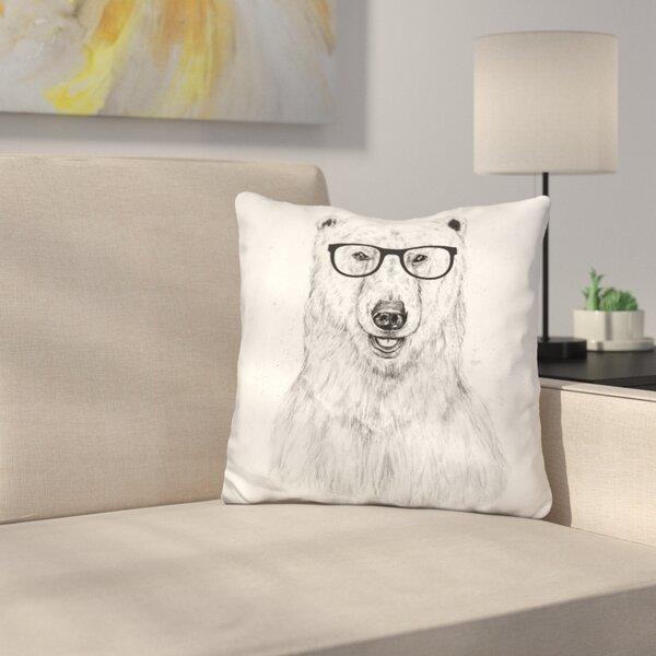 Geek Bear Throw Pillow by East Urban Home