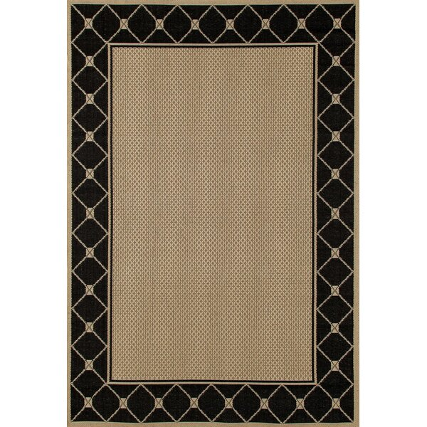 Beaminster Black/Beige Indoor/Outdoor Area Rug by Fleur De Lis Living