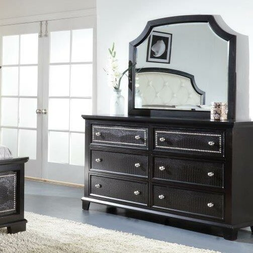 Kay 6 Drawer Double Dresser with Mirror by Rosdorf Park Rosdorf Park