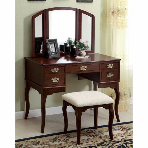 Courtright Vanity with Mirror by Fleur De Lis Living