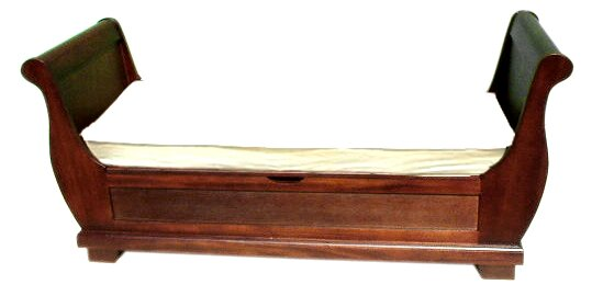 Sleigh Wood Storage Bench by D-Art Collection