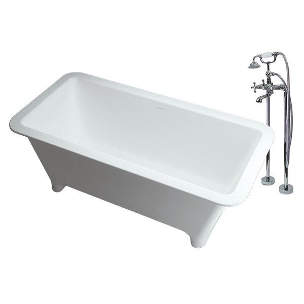 Milan 69 x 29.5 Freestanding Soaking Bathtub by Transolid