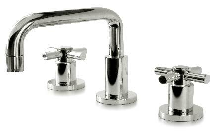 Toro Cross Widespread Bathroom Faucet with Drain Assembly