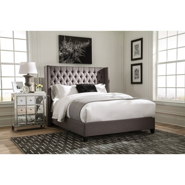Greig Fully Upholstered Standard Bed by Alcott Hill