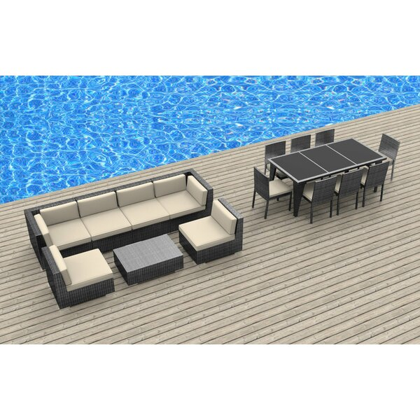 Arlington 16 Piece Complete Patio Set with Cushions by Bayou Breeze