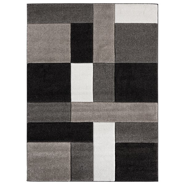Moerchen Oriental Low Pile Turkish Black/Brown/Gray Indoor/Outdoor Area Rug by Orren Ellis