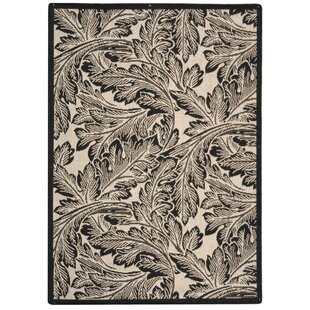 Affordable Alberty Sand/Black Outdoor Area Rug ByThree Posts