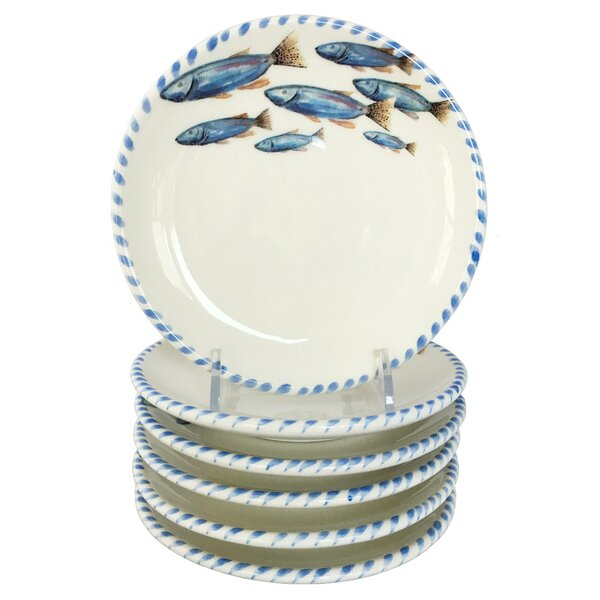 Lake Fish 5.75 Small Bread and Butter Plate (Set of 6) by Abbiamo Tutto