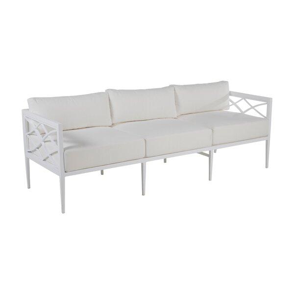 Elegante Aluminum Patio Sofa with Cushions by Summer Classics