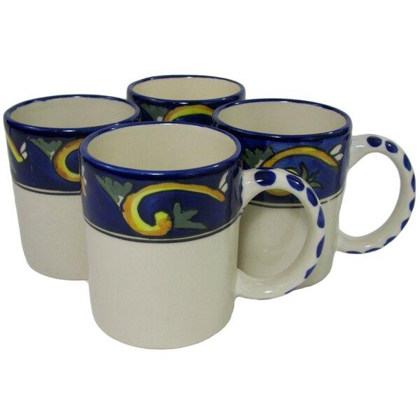 Riya Stoneware Coffee Mug (Set of 4) by Le Souk Ceramique