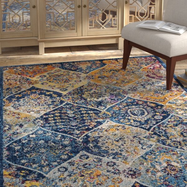 Parramatta Transitional Blue Area Rug by Bloomsbury Market