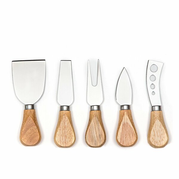 6-Piece Premium Stainless Steel Cheese Knife Set by HULLR