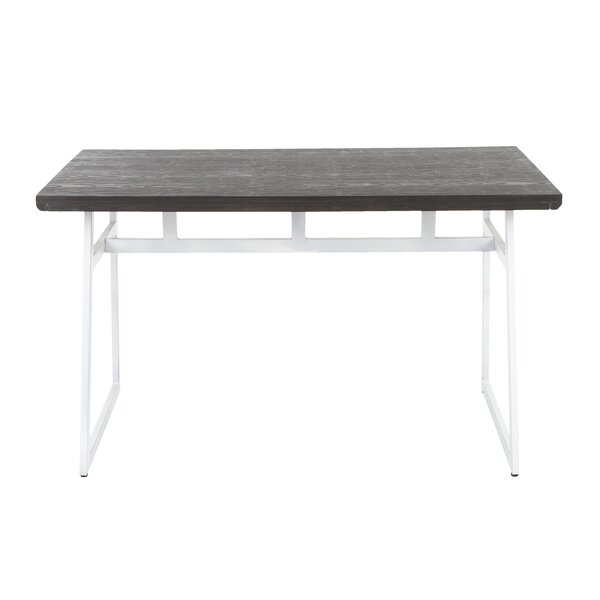 Prange Industrial Solid Wood Dining Table by Gracie Oaks Gracie Oaks