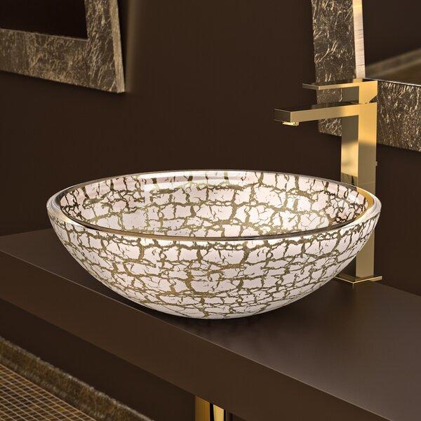 Atelier Glass Circular Vessel Bathroom Sink by Maestro Bath