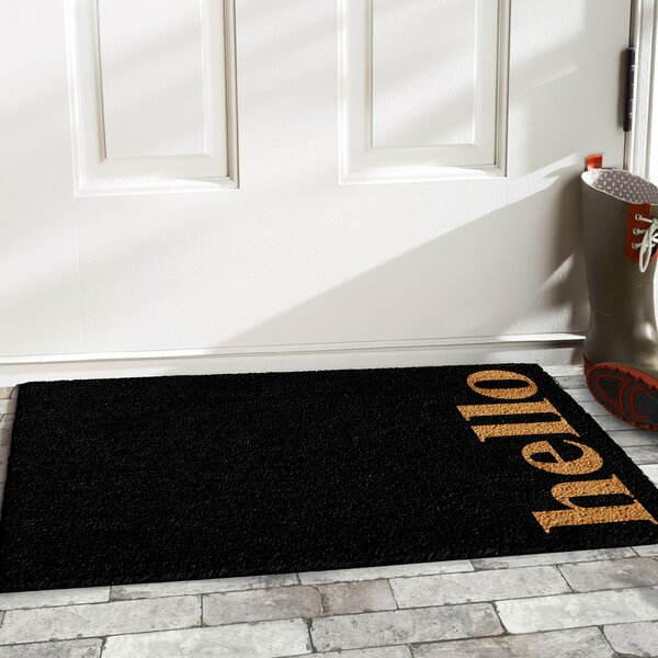 Walsall Vertical Hello Doormat by Wrought Studio