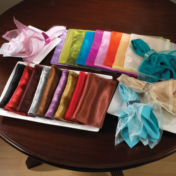 Shelia Polyester Organza Dinner Napkin (Set of 12)