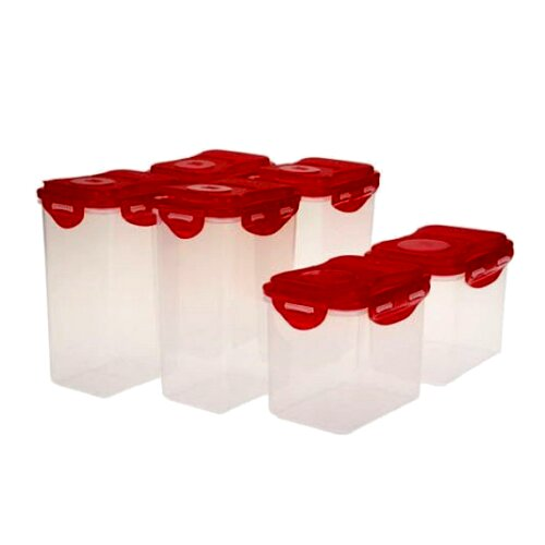 Flip Top Pantry 6 Container Food Storage Set