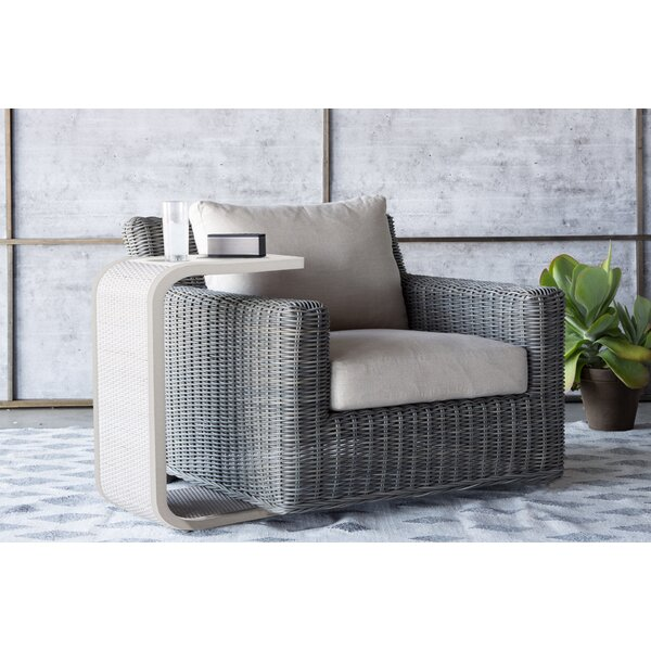 Rustic Swivel Patio Chair with Cushions by Summer Classics
