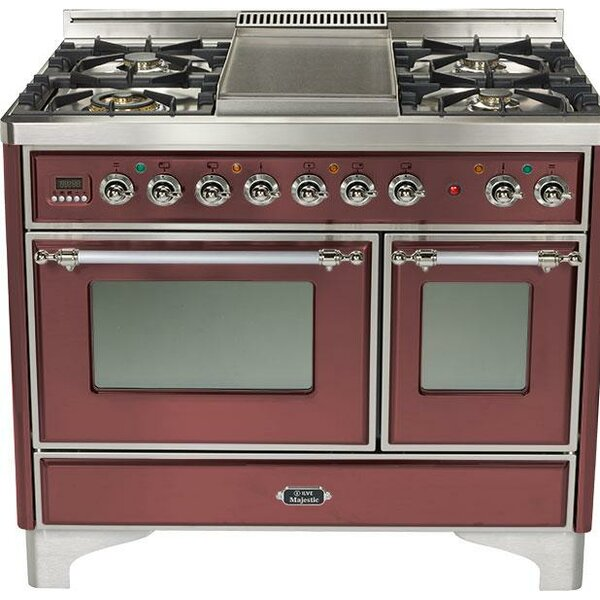 40 Free-standing Gas Range with Griddle by ILVE