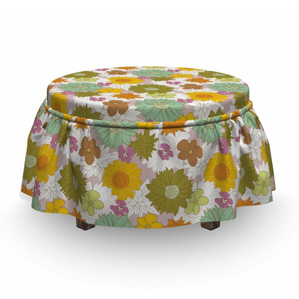 Fresh Nature Ottoman Slipcover (Set Of 2) By East Urban Home
