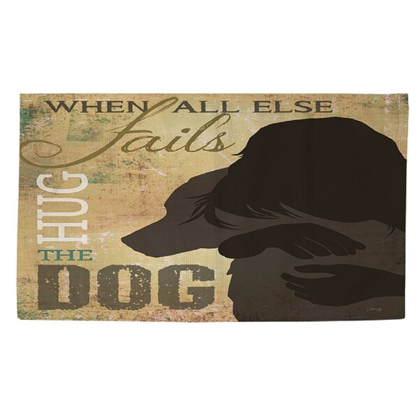 Hug the Dog Brown Area Rug by Manual Woodworkers & Weavers