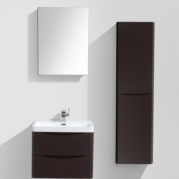 Mancini 24 Single Bathroom Vanity Set with Mirror by Orren Ellis