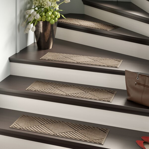 Amald Diamond Stair Tread (Set of 4) by Red Barrel Studio