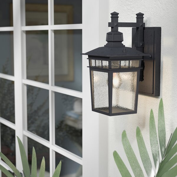 Valeri 1-Light Outdoor Wall Lantern by Beachcrest Home