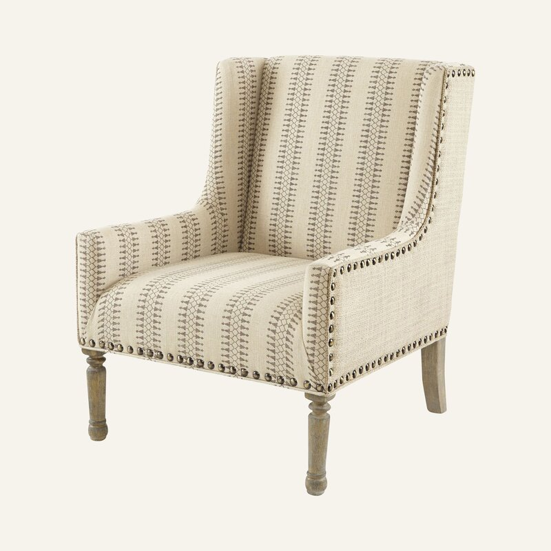 """Metro 22.25"""" Wingback Chair - you're going to love these furniture and decor pieces Kelly curated for Wayfair! #furniture #frenchcountry #kellyclarksonhome #wingchairs"""