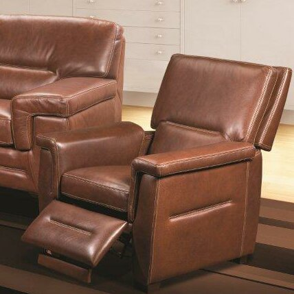 Kennard Leather Manual Recliner by Red Barrel Studio Red Barrel Studio