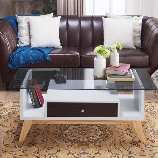Levi Coffee Table with Storage by Brayden Studio
